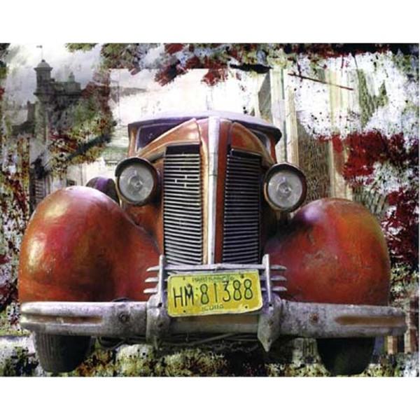 Image 3D Voiture - Pick up rouge 40 x 50 cm - Photo n°1