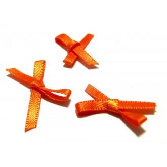 Apprêt et mercerie Lot de 50 noeuds orange QZ43-9