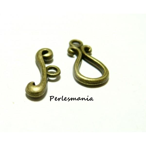 Apprêt bijoux 10 sets ref 595 magnifique fermoirs bronze - Photo n°1
