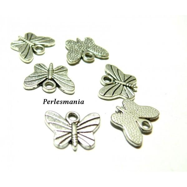 Apprêt bijoux: 10 pendentifs Papillon VA ref 2Y304 - Photo n°1