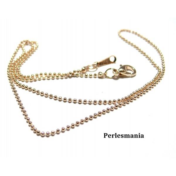 1369f8af7c1 Apprêt bijoux 1 Collier chaine bille fines OR ROSE 1