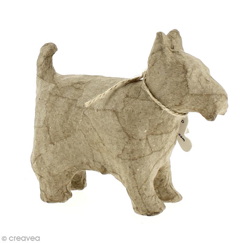 chien en papier mach 14 cm chien d corer creavea. Black Bedroom Furniture Sets. Home Design Ideas