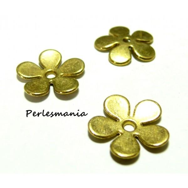 Calotte Caps fleur flower métal 21mm Perles pour création de bijoux Coupelle
