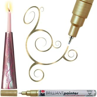 Stylo peinture Brilliant painter 0,8 mm Or