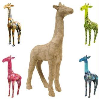 Girafe en papier maché 12 cm