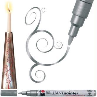 Marqueur peinture Brilliant painter 1-2 mm Argent