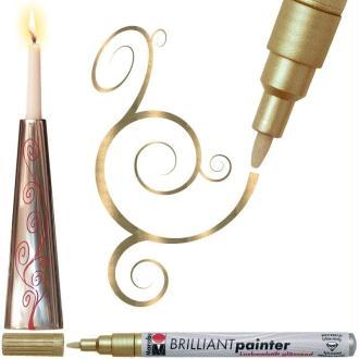 Marqueur peinture Brilliant painter 1-2 mm Or