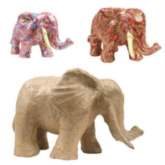 Eléphant en papier maché 21 cm