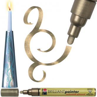 Feutre peinture Brilliant painter 2-4 mm Or