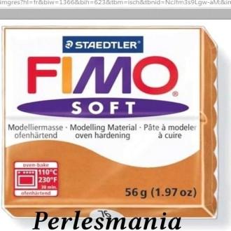 Loisirs créatifs: 1 pain 56g pate polymère FIMO SOFT COGNAC REF76