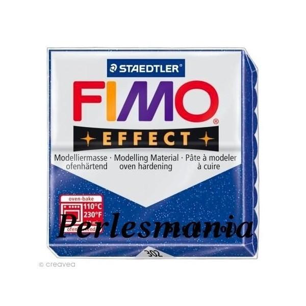 pain 56g pate polymère FIMO EFFECT BLEU effet pailletée 8020-302 - Photo n°1