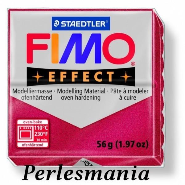 1 pain 56g pate polymère FIMO EFFECT RUBIS effet Metallique 8020-28 - Photo n°1