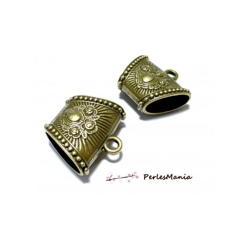 9 Bijoux Bélières Perles antique pour Bracelet bronze