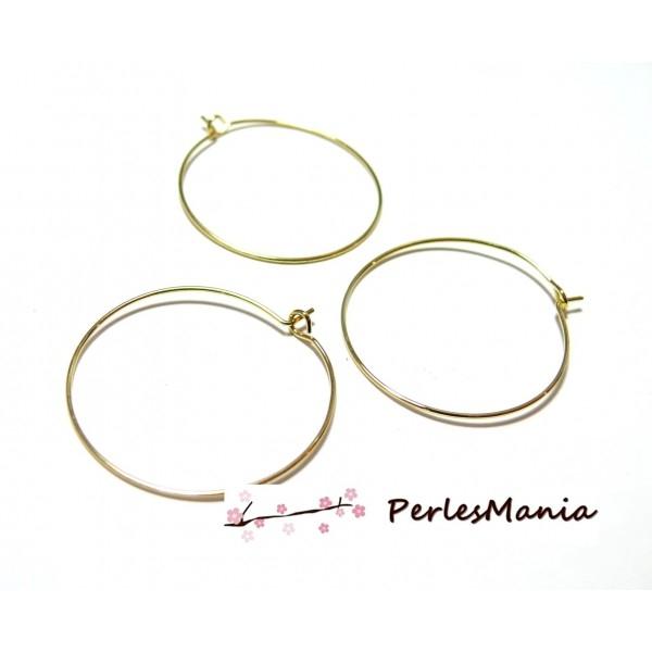 profiter du prix de liquidation enfant modèle unique Apprêt bijoux 10 créoles Qualité support cuivre P0671 DORE 20mm