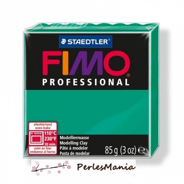 Loisirs créatifs: 1 PAIN PATE FIMO PROFESSIONAL VERT PUR 85gr REF 8004-500 - Photo n°1