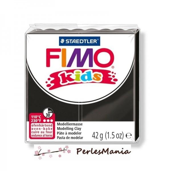 1 PAIN PATE FIMO KIDS NOIR 42gr REF 8030-9 - Photo n°1