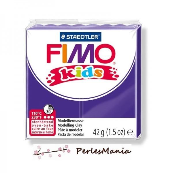 1 PAIN PATE FIMO KIDS VIOLET 42gr REF 8030-6 - Photo n°1
