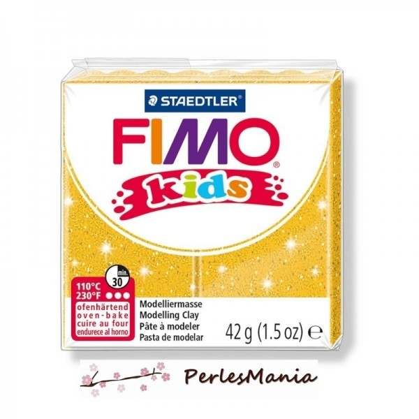 1 PAIN PATE FIMO KIDS OR A PAILLETTE 42gr REF 8030-112 - Photo n°1