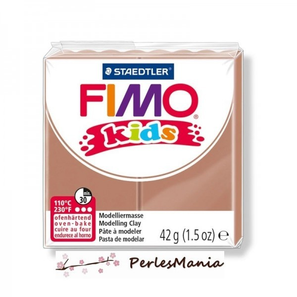 1 PAIN PATE FIMO KIDS CHATAIN CLAIR 42gr REF 8030-71 - Photo n°1