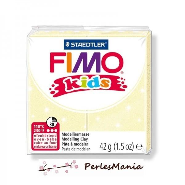 1 PAIN PATE FIMO KIDS JAUNE PERLE 42gr REF 8030-106 - Photo n°1