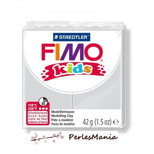 1 PAIN PATE FIMO KIDS GRIS CLAIR 42gr REF 8030-80 - Photo n°1