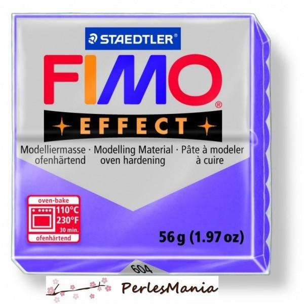 1 pain 56g pate polymère FIMO EFFECT LILAS TRANSPARENT 8020-604 - Photo n°1