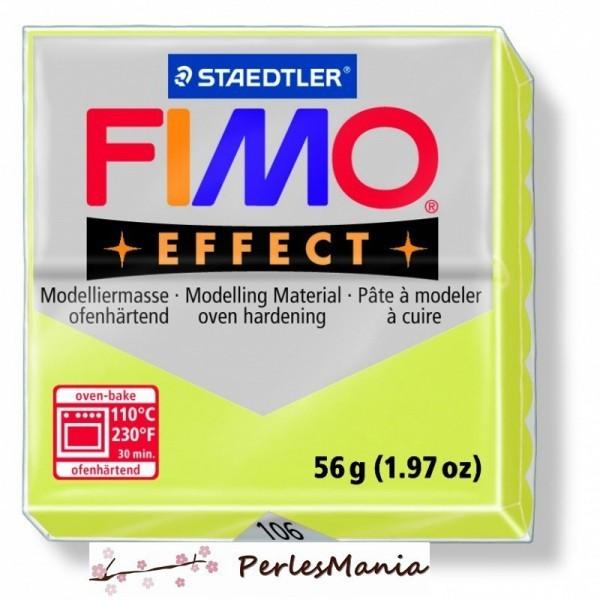 1 pain 56g pate polymère FIMO EFFECT CITRINE 8020-106 - Photo n°1