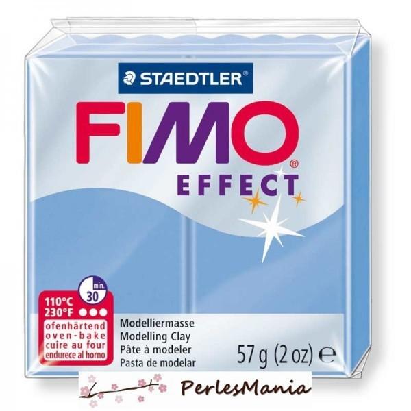 1 pain 56g pate polymère FIMO EFFECT BLEU AGATE 8020-386 - Photo n°1