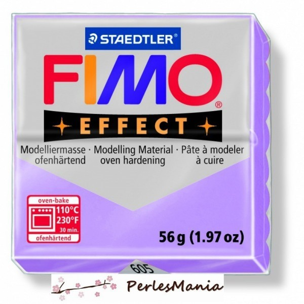 1 pain 56g pate polymère FIMO EFFECT LILAS 8020-605 - Photo n°1