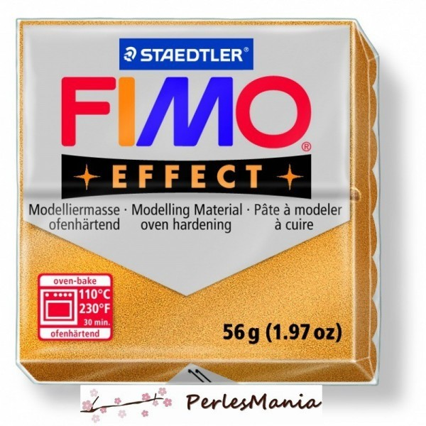 1 pain 56g pate polymère FIMO EFFECT OR METALLISE 8020-11 - Photo n°1