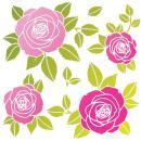 Pochoir Roses 33 x 33 cm - Photo n°1