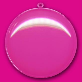 Medaillon plastique transparent pour contact alimentaire 11 cm