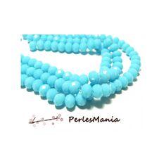 Blanc millefiori à Facettes Rondelle Perles de verre 10mm Pack de 5 D30 // 1
