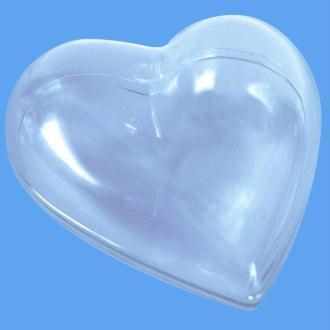 Coeur plastique transparent pour contact alimentaire 10 cm