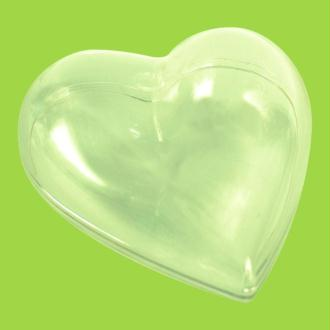 Coeur plastique transparent pour contact alimentaire 8 cm