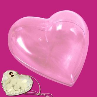 Coeur plastique transparent pour contact alimentaire 6 cm