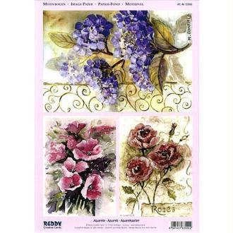Carte 3D prédécoupée - Compositions florales 21 x 29,7 cm