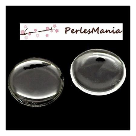 20 Cabochons ROND 25mm sticker autocollant epoxy transparent , DIY - Perlesmania