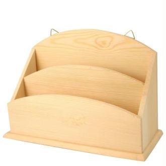 Porte courrier en bois à décorer - 25 cm