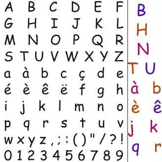 Tampons clear stamp Alphabet main levée - Set de 73 tampons