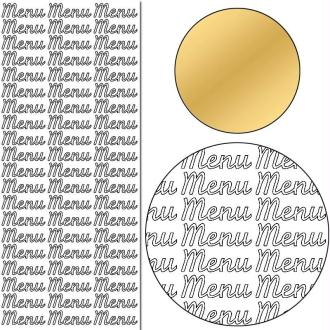 Stickers Peel off Menu or - 3 cm - 60 pcs