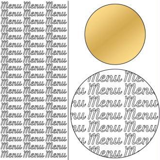 Stickers Peel off Menu or - 3 cm - 60 pcs