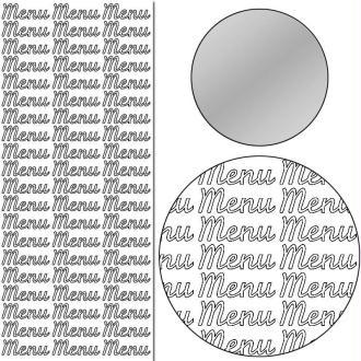 Stickers Peel off Menu argent - 3 cm - 60 pcs