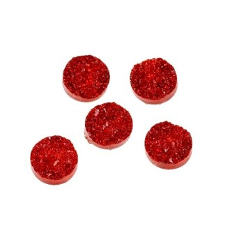 PAX 20 cabochons plat druzy, drusy ronds 12mm S1177541