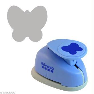 Perforatrice MM papillon stylisé - 2,5 cm