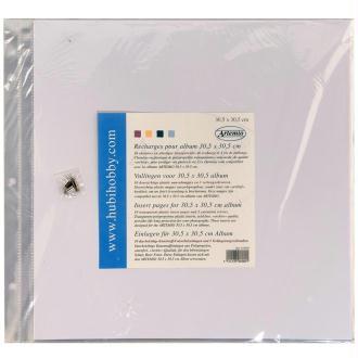 Chemise plastique album photo 30,5 x 30,5 cm - Lot de 10