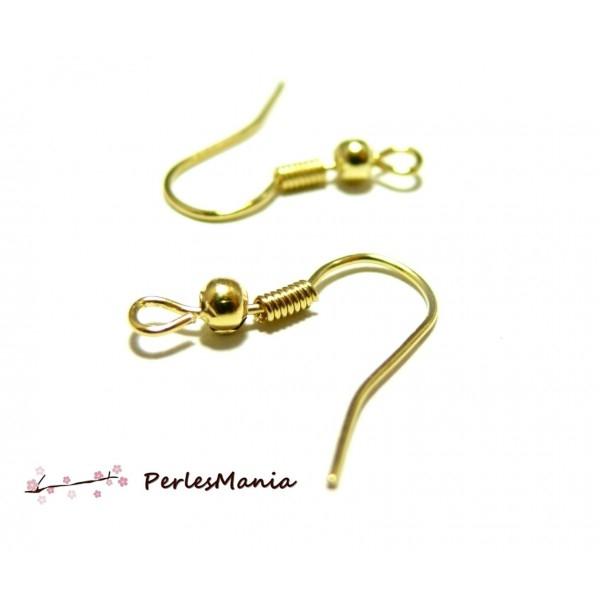 200 Supports Crochets boucles d/'oreilles doré