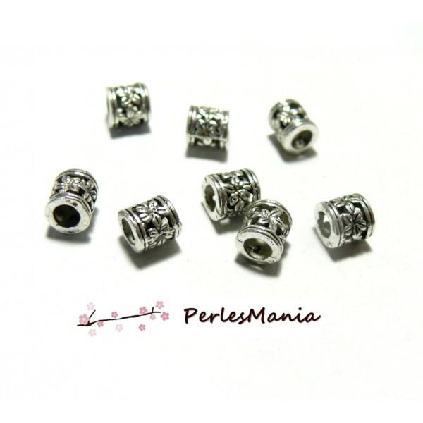 100 Perles Intercalaire Motif Gravé métal Rond 6 mm sans nickel