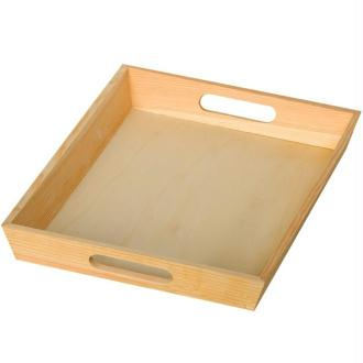 Plateau en bois Rectangle 25 x 35 cm