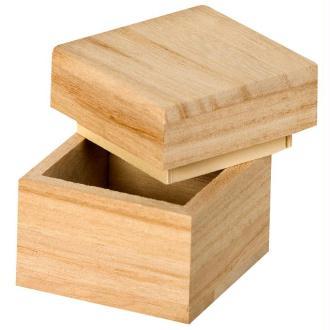Boite en bois Carré 5 cm